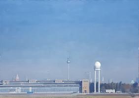 Tempelhofer Feld, 2015, Öl auf Leinwand, 50 x 70 cm