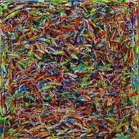 Il morso, 2020, Acryl auf Leinwand, 140x140cm