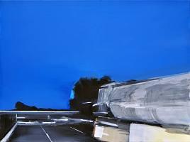 Nachtfahrt, 2012, Öl auf Baumwolle, 60 x 80 cm