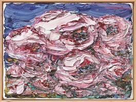 Rotes Ensemble II, 2019, Öl auf Leinwand, H 120 cm, B 160 cm