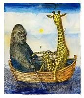 Affe und Giraffe