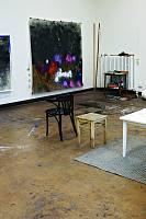 Künstlerhaus 188 e.V., Blick in das Atelier von Nora Mona Bach, 2020