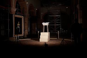 BUNDESKUENSTLERIN, 2020, Environment, 4x6m, PVC, Glas (mundgeblasen), Holz