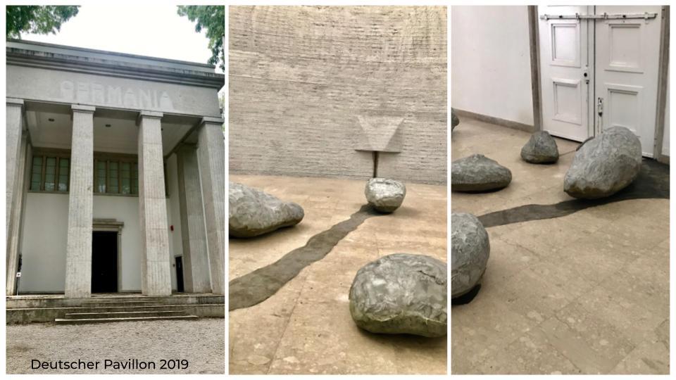 Der deutsche Beitrag auf der Kunst-Biennale 2019 (Foto: Jana Noritsch)
