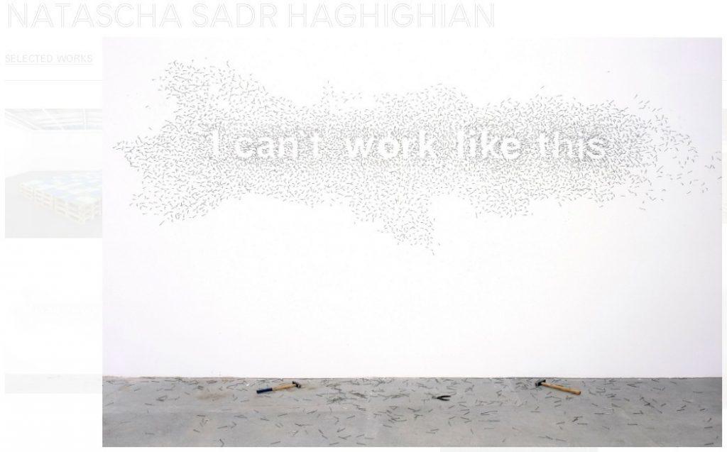 """I can't work like this"", Natascha Sadr Haghighian, 2007: (c) KÖNIG Galerie"